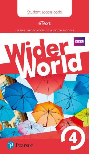 Wider World 4 eBook Students' Access Card - Wider World (Digital product license key)