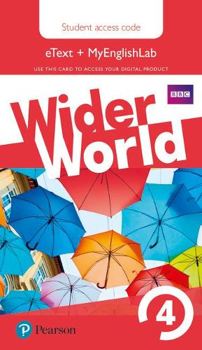 Wider World 4 MyEnglishLab & eBook Students' Access Card - Wider World (Digital product license key)