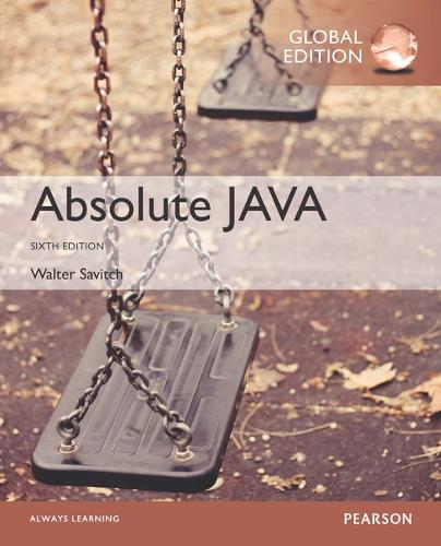 Absolute Java OLP with MyProgrammingLab, Global Edition