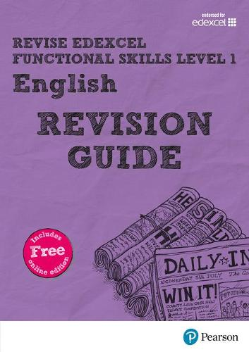 Revise Edexcel Functional Skills English Level 1 Revision Guide: includes online edition - Revise Functional Skills