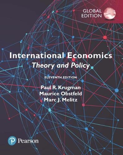 Cover International Economics: Theory and Policy, Global Edition