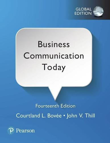Cover Business Communication Today, Global Edition