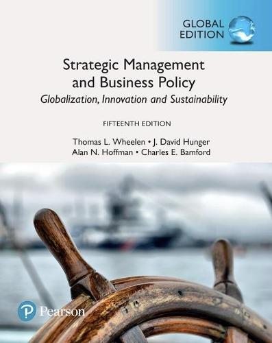 Cover Strategic Management and Business Policy: Globalization, Innovation and Sustainability plus Pearson MyLab Management with Pearson eText, Global Edition