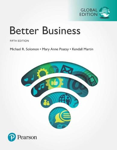 Cover Better Business plus Pearson MyLab Business with Pearson eText, Global Edition
