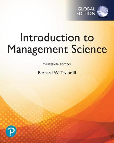 Introduction to Management Science, Global Edition (Paperback)