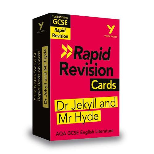 York Notes for AQA GCSE (9-1) Rapid Revision Cards: Dr Jekyll and Mr Hyde - Catch up, revise and be ready for 2021 assessments and 2022 exams - York Notes