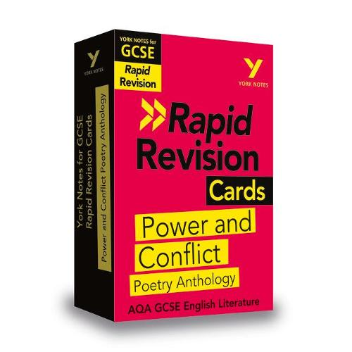York Notes for AQA GCSE (9-1) Rapid Revision Cards: Power and Conflict AQA Poetry Anthology - York Notes