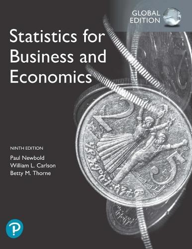 Statistics for Business and Economics, Global Edition (Paperback)
