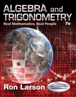 Algebra and Trigonometry: Real Mathematics, Real People (Hardback)