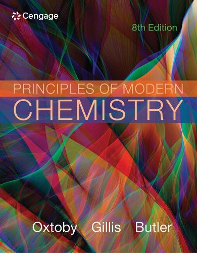 Student Solutions Manual for Oxtoby/Gillis/Butler's Principles of Modern Chemistry, 8th (Paperback)