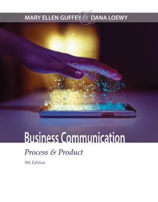 Business Communication: Process & Product (Hardback)