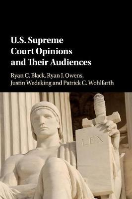 US Supreme Court Opinions and their Audiences (Paperback)
