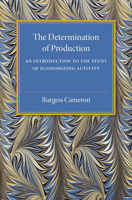The Determination of Production: An Introduction to the Study of Economizing Activity (Paperback)