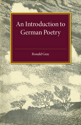 An Introduction to German Poetry (Paperback)
