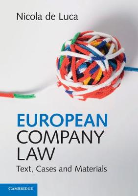 European Company Law: Text, Cases and Materials (Paperback)
