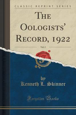 The Oologists' Record, 1922, Vol. 2 (Classic Reprint) (Paperback)