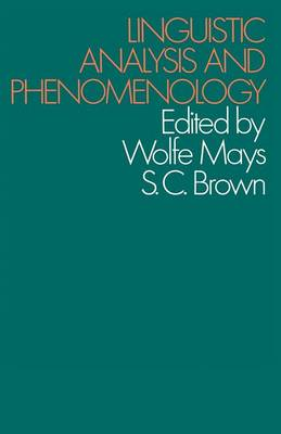 Linguistic Analysis and Phenomenology (Paperback)