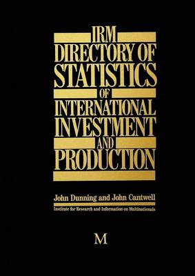 IRM Directory of Statistics of International Investment and Production (Paperback)