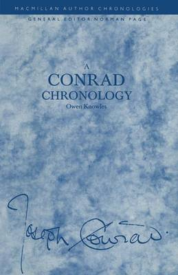 A Conrad Chronology - Author Chronologies Series (Paperback)