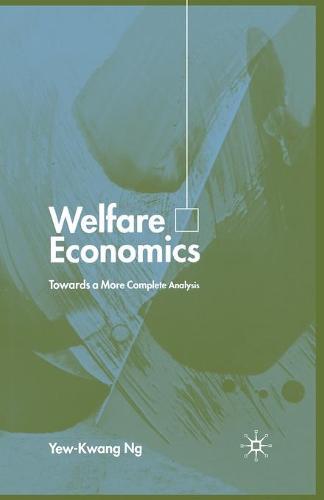 Welfare Economics: Towards a More Complete Analysis (Paperback)