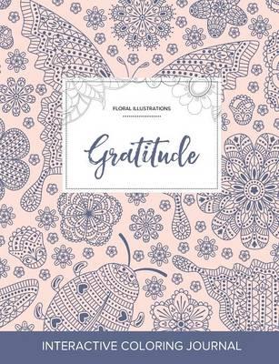 Adult Coloring Journal: Gratitude (Floral Illustrations, Ladybug) (Paperback)