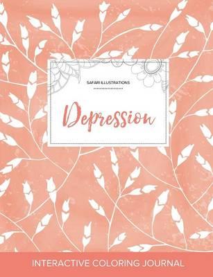 Adult Coloring Journal: Depression (Safari Illustrations, Peach Poppies) (Paperback)