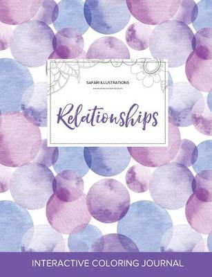 Adult Coloring Journal: Relationships (Safari Illustrations, Purple Bubbles) (Paperback)