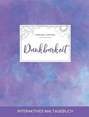 Maltagebuch Fur Erwachsene: Dankbarkeit (Meeresleben Illustrationen, Lila Nebel) (Paperback)