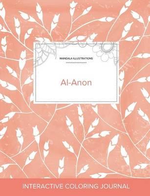 Adult Coloring Journal: Al-Anon (Mandala Illustrations, Peach Poppies) (Paperback)