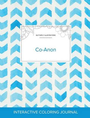 Adult Coloring Journal: Co-Anon (Butterfly Illustrations, Watercolor Herringbone) (Paperback)