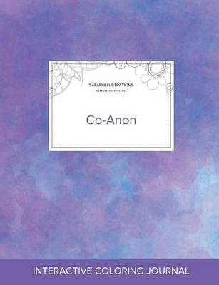 Adult Coloring Journal: Co-Anon (Safari Illustrations, Purple Mist) (Paperback)