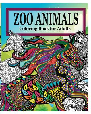 Zoo Animals Coloring Book for Adults (Paperback)