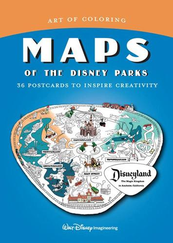 Art Of Coloring: Maps Of The Disney Parks: 36 Postcards to Inspire Creativity (Paperback)