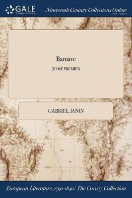Barnave; Tome Premier (Paperback)