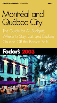 Montreal and Quebec City 2003 - Gold Guides (Paperback)