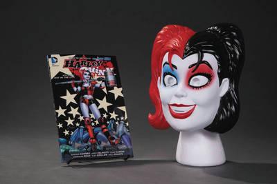 Harley Quinn Book and Mask Set (Paperback)