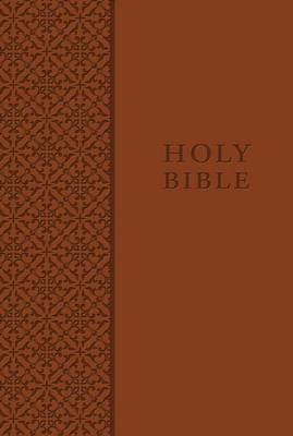 KJV Study Bible, Personal Size, Leathersoft, Brown, Red Letter Edition (Leather / fine binding)