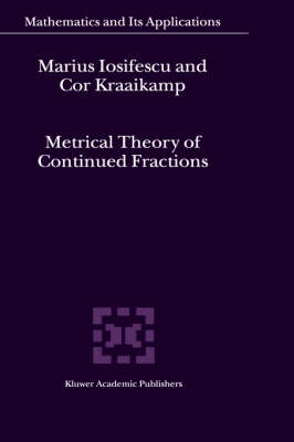 Metrical Theory of Continued Fractions - Mathematics and Its Applications 547 (Hardback)