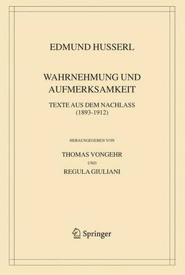 Wahrnehmung Und Aufmerksamkeit: Texte Aus Dem Nachlass (1893-1912) - Husserliana: Edmund Husserl Bd. 38 (Hardback)
