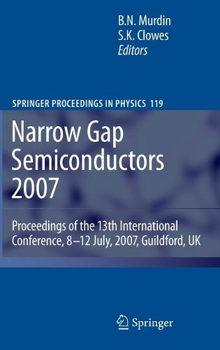Narrow Gap Semiconductors 2007: Proceedings of the 13th International Conference, 8-12 July, 2007, Guildford, UK - Springer Proceedings in Physics 119 (Hardback)