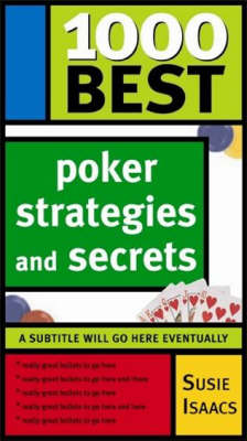1000 Best Poker Strategies and Secrets (Paperback)