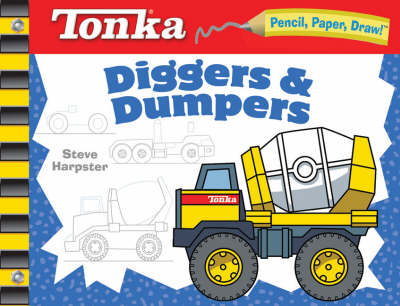 Tonka Diggers and Dumpers - Pencil, Paper, Draw! (Spiral bound)