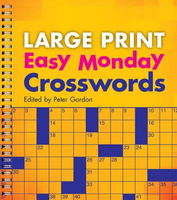 Large Print Easy Monday Crosswords (Paperback)