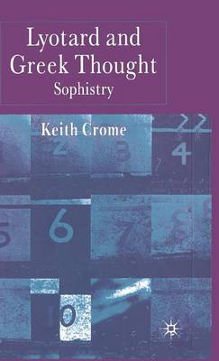 Lyotard and Greek Thought: Sophistry (Hardback)