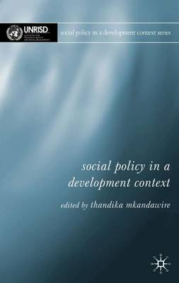 Social Policy in a Development Context - Social Policy in a Development Context (Paperback)