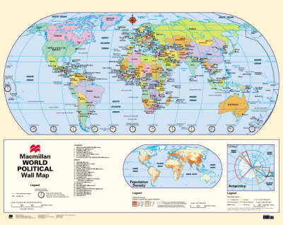 Macmillan World Wall Map: Physical and Political (Wallchart)