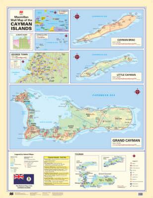 Macmillan Wall Map of the Cayman Islands - Macmillan Caribbean Wall Maps (Wallchart)