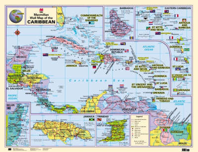 Macmillan Wall Map of the Caribbean - Macmillan Caribbean Wall Maps (Wallchart)