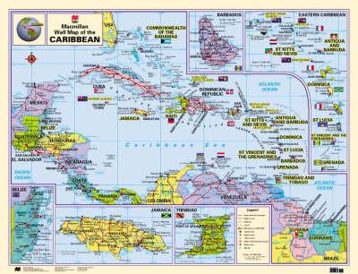 Macmillan Wall Map of the Caribbean - Macmillan Caribbean Wall Maps (Wallchart)