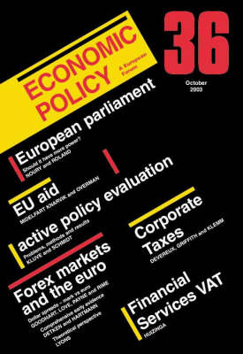 Economic Policy: No. 36 - Economic Policy (Paperback)